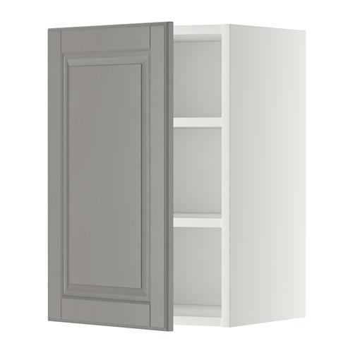 МЕТОД Шкаф навесной с полкой - 40x60 см, Будбин серый, белый