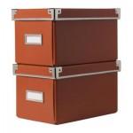 КАССЕТ Коробка для CD с крышкой - оранжевый
