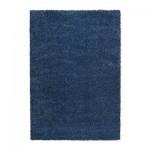 АЛЬХЕДЕ Ковер, длинный ворс - синий, 133x195 см
