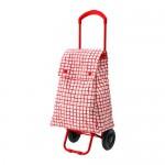 KNELLA Einkaufstasche auf Rädern - rot / weiß