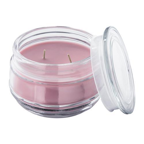 ЛУГГА Ароматическ свеча в стакане,2фитиля
