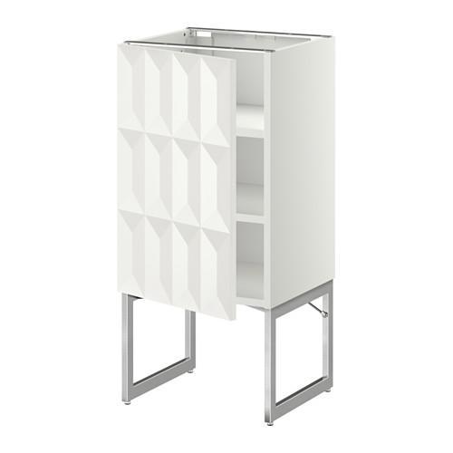 МЕТОД Напольный шкаф с полками - 40x37x60 см, Гэррестад белый, белый