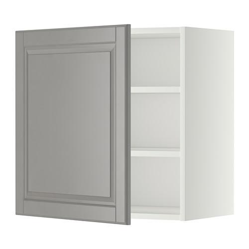 МЕТОД Шкаф навесной с полкой - 60x60 см, Будбин серый, белый