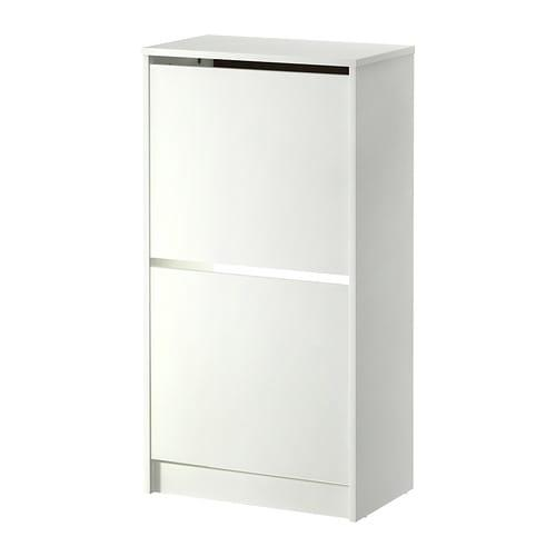 Biss Shoe cabinet with 2 offices - White