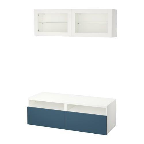 Witte Ikea Tv Kast.Besto Tv Kast Combinatie Glazen Deuren Wit Valviken Navy