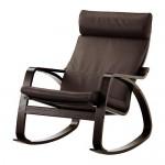 POÄNG кресло-качалка черно-коричневый/Глосе темно-коричневый