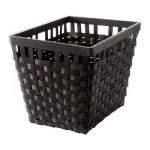КНАРРА Корзина - черно-коричневый, 38x29x30 см