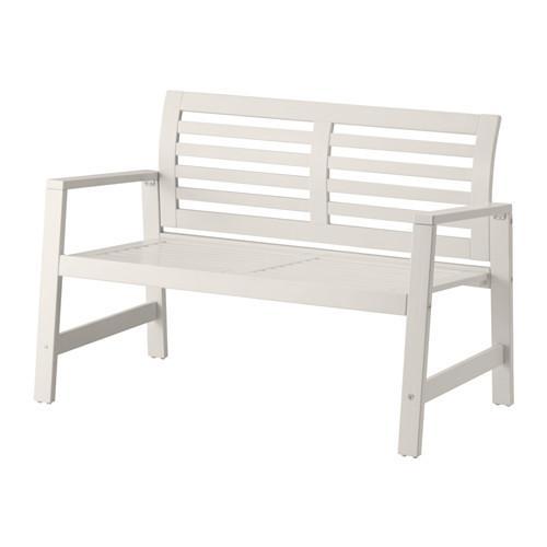Ikea Panche Da Giardino.Panca Da Giardino Eplaro Con Schienale Bianco 102 590 46 Recensioni Prezzo Dove Acquistare