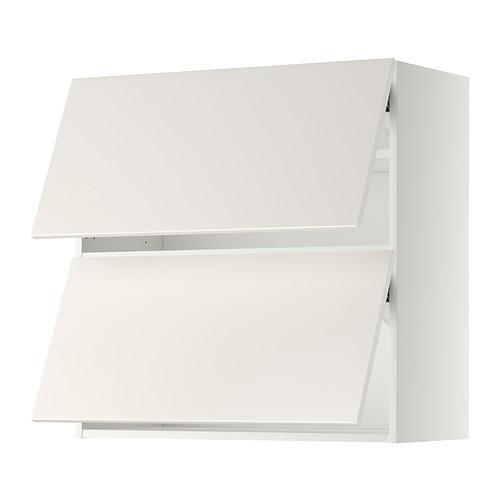 МЕТОД Навесной шкаф/2 дверцы, горизонтал - 80x80 см, Веддинге белый, белый