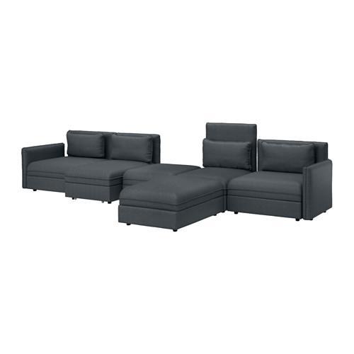 ВАЛЛЕНТУНА 5-местный диван-кровать - Хилларед темно-серый