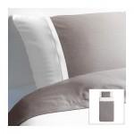 ФЭРГЛАВ Пододеяльник и 1 наволочка - серый/белый, 150x200/50x70 см