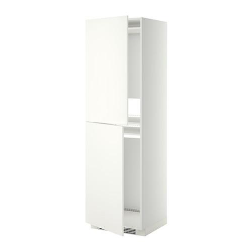 МЕТОД Высок шкаф д холодильн/мороз - 60x60x200 см, Хэггеби белый, белый