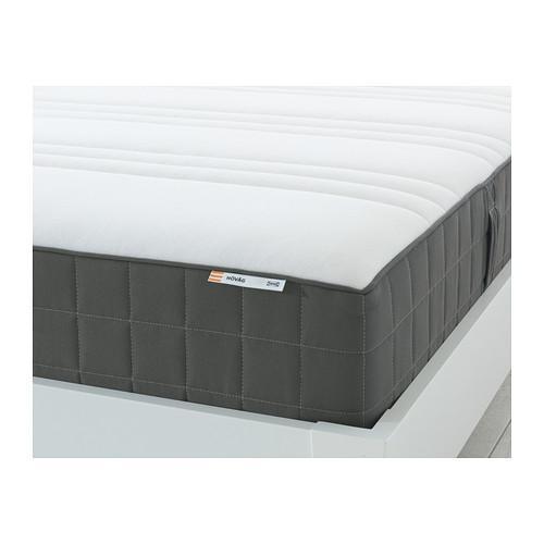 ХОВОГ Матрас с пружинами карманного типа - 80x200 см, жесткий/темно-серый