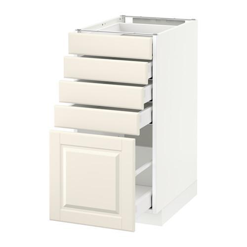 МЕТОД / МАКСИМЕРА Напольный шкаф с 5 ящиками - 40x60 см, Будбин белый с оттенком, белый