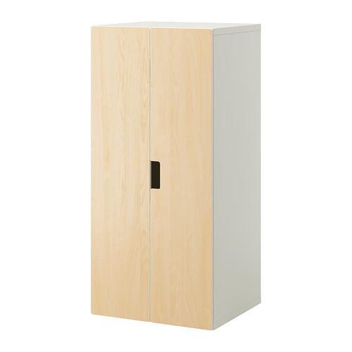 СТУВА Комбинация для хранения с дверцами - белый/береза