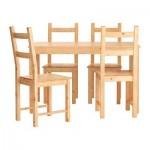 ИНГУ / ИВАР Стол и 4 стула