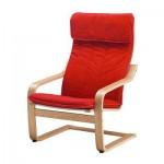 Poeng Armchair - Alme venir oak merah klasik