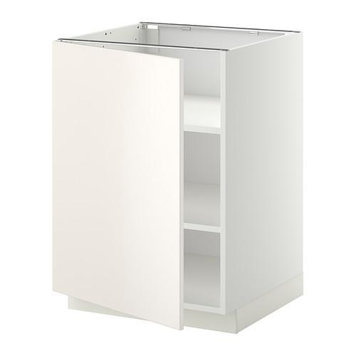 МЕТОД Напольный шкаф с полками - 60x60 см, Веддинге белый, белый
