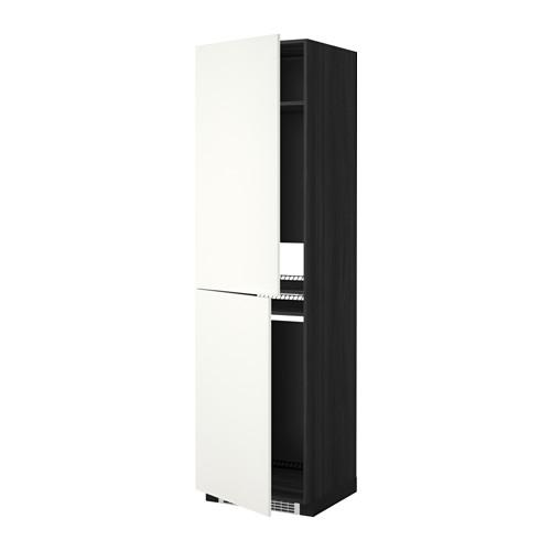 МЕТОД Высок шкаф д холодильн/мороз - 60x60x220 см, Хэггеби белый, под дерево черный