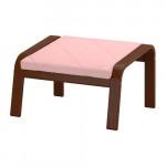 ПОЭНГ Табурет для ног - Эдум розовый, классический коричневый