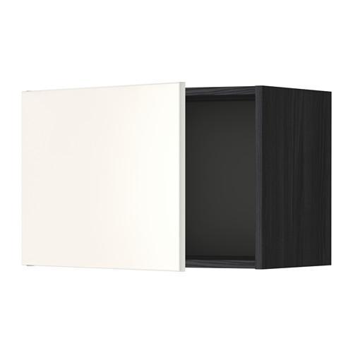 МЕТОД Шкаф навесной - 60x40 см, Веддинге белый, под дерево черный