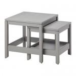 JAVSTA Set tafels, 2 pcs - grijs