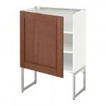 МЕТОД Напольный шкаф с полками - белый, Филипстад коричневый, 60x37x60 см