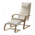 BERSIH Kerusi berlengan dengan najis untuk kaki - di bawah bilah beech / Genarp