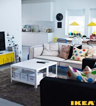 Interior soggiorno con cucina
