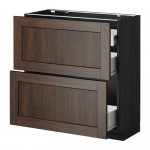 METHOD / FORVARA Napn cabinet 2 fnnt pnl / 1low / 2c box The box is black for wood, Edserm is brown for wood, cm 80xXNNX