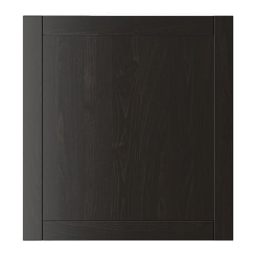 ХАНВИКЕН Дверь - черно-коричневый