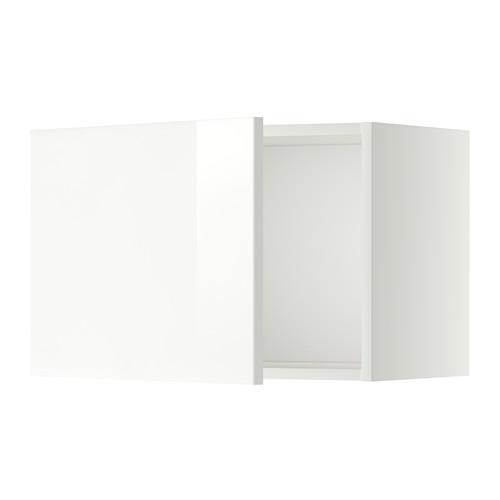 МЕТОД Шкаф навесной - 60x40 см, Рингульт глянцевый белый, белый