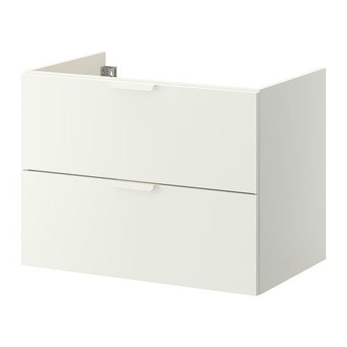 GODMORGON sink cabinet with 2 crate - white, 80x47x58 see