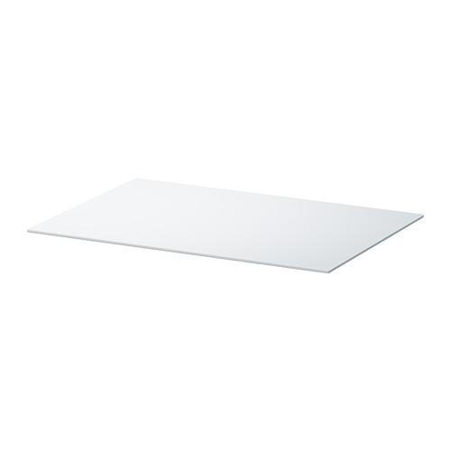 БЕСТО Верхняя панель - стекло белый, 60x40 см