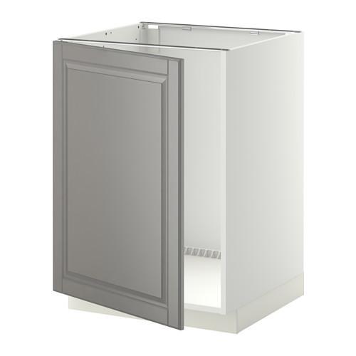МЕТОД Напольный шкаф для раковины - Будбин серый, белый