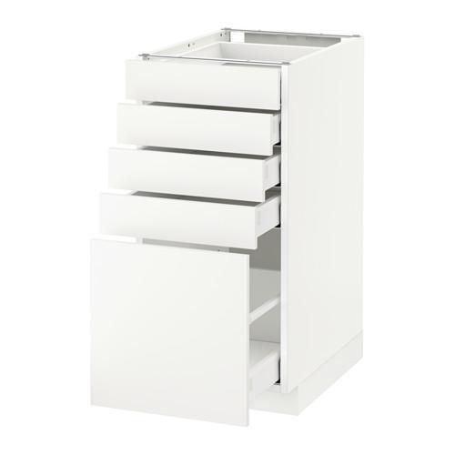 МЕТОД / МАКСИМЕРА Напольный шкаф с 5 ящиками - 40x60 см, Хэггеби белый, белый
