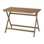ASKHOLMEN садовый стол складной светло-коричневая морилка 62x73 cm