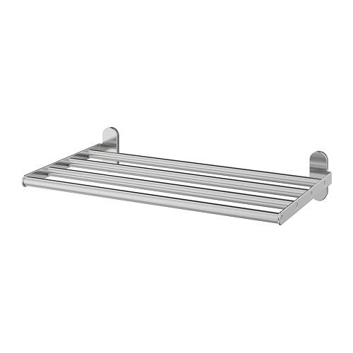 BROGRUND wall shelf with bar d / towels