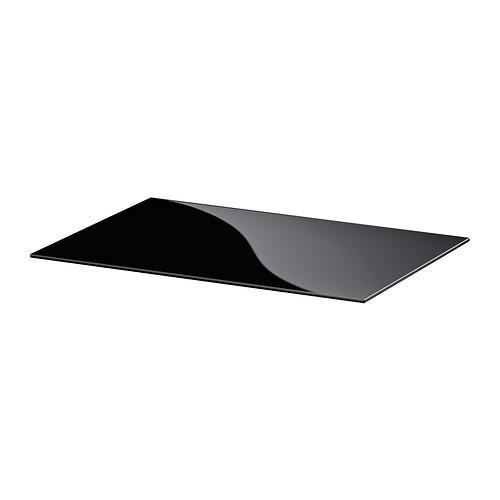 БЕСТО Верхняя панель - стекло черный, 60x40 см