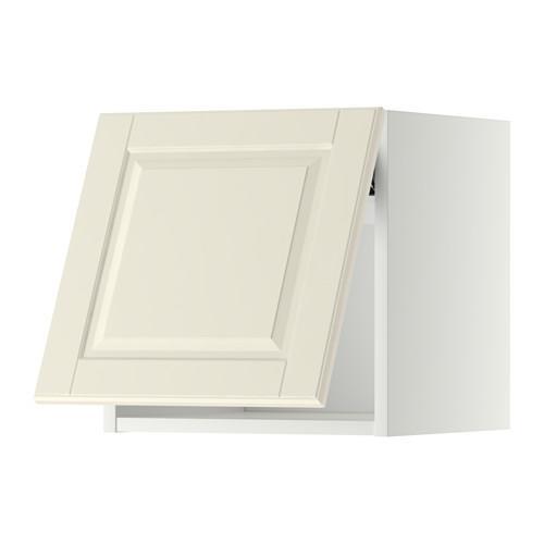 МЕТОД Горизонтальный навесной шкаф - 40x40 см, Будбин белый с оттенком, белый