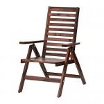 ЭПЛАРО Садовое кресло/регулируемая спинка - складной коричневая морилка