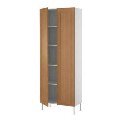 FAKTUM High cabinet with shelves - Edel beech, 80x211x37 see
