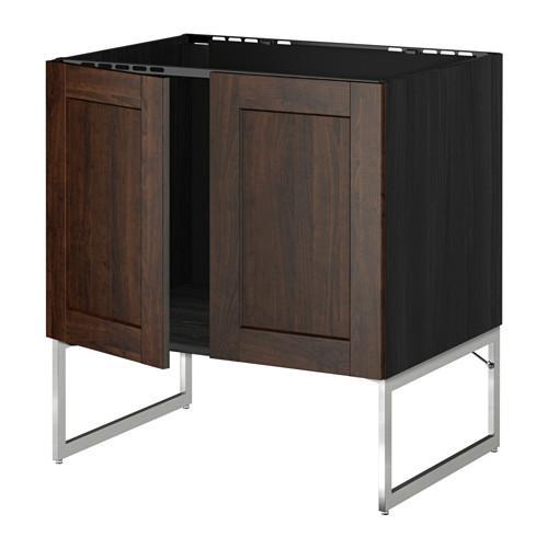 МЕТОД Напольн шкаф д раковины+2 двери - Эдсерум под дерево коричневый,