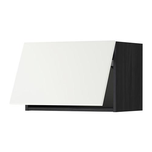 МЕТОД Горизонтальный навесной шкаф - 60x40 см, Хэггеби белый, под дерево черный