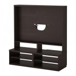 БЕСТО Шкаф для ТВ - черно-коричневый