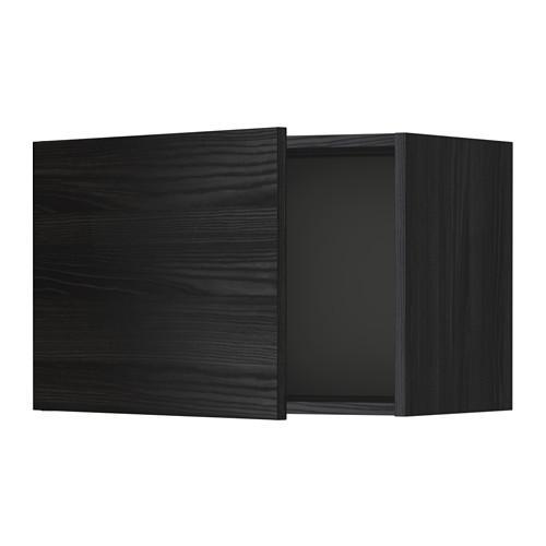 МЕТОД Шкаф навесной - 60x40 см, Тингсрид под дерево черный, под дерево черный