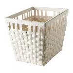 КНАРРА Корзина - белый, 38x29x30 см