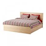 МАЛЬМ Высокий каркас кровати/4 ящика - 140x200 см, Султан Лурой