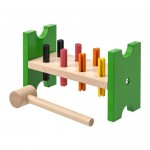 MULA block with pegs and hammer multi-colored