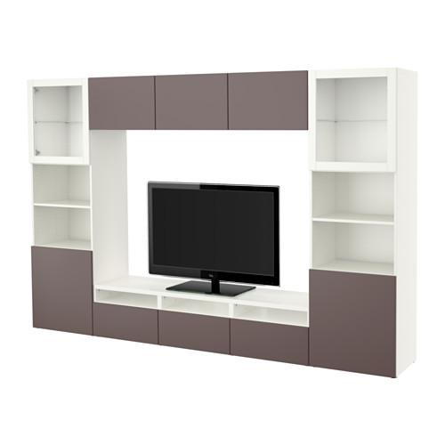 best tv schrank kombinierte glast r wei valviken. Black Bedroom Furniture Sets. Home Design Ideas